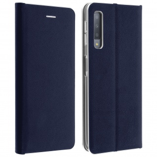 Samsung Galaxy A7 2018 Flip Cover mit Kartenschlitz & Standfunktion - Dunkelblau