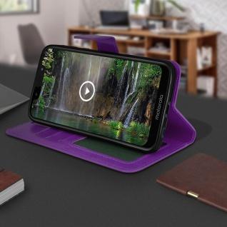Flip Stand Cover Brieftasche & Standfunktion für Motorola Moto G7 Play - Violett - Vorschau 4