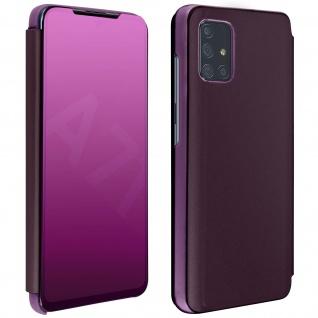Mirror Klapphülle, Spiegelhülle für Samsung Galaxy A71 - Violett