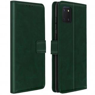 Flip Stand Case Brieftasche & Standfunktion für Galaxy Note 10 Lite - Grün