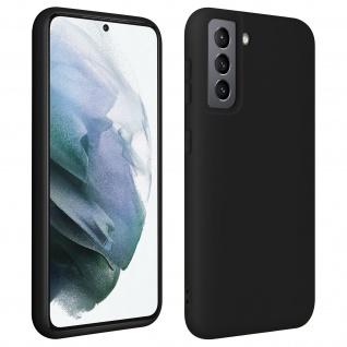 Halbsteife Silikon Handyhülle für Samsung Galaxy S21 Plus, Soft Touch ? Schwarz