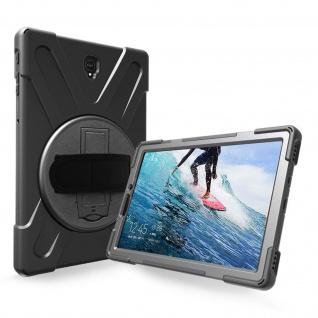 Samsung Galaxy Tab S4 10.5'' Hybrid-Hülle mit Griff und Ständer - Schwarz