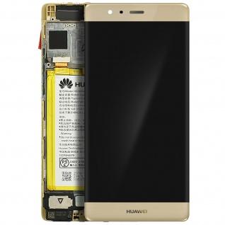 Ersatzdisplay Huawei P9 kompatibel, Scheibe vormontiert - Gold - Vorschau 2