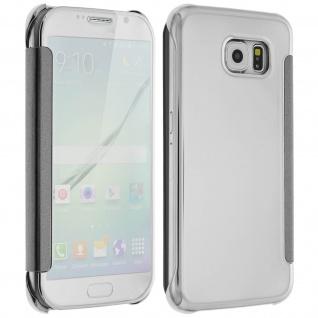 Silberfarbene Clear View Schutzhülle für Samsung Galaxy S6