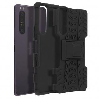 Stoßfeste Schutzhülle + Standfunktion für Sony Xperia 1 II ? Schwarz