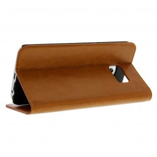 Galaxy S6 Edge Flip-Schutzhülle aus Echtleder im Brieftaschenstil - Braun - Vorschau 5
