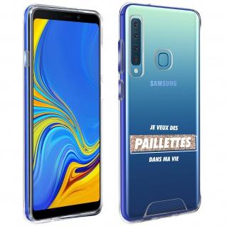 """Handyhülle für Samsung Galaxy A9 2018, Made in France ? """" Paillettes"""" Design"""