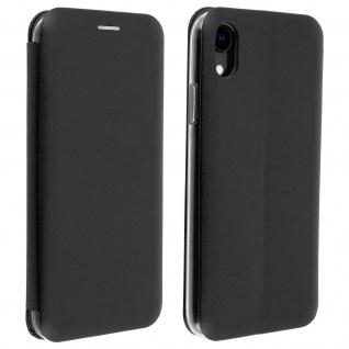Apple iPhone XR Flip Cover mit Kartenschlitz & Standfunktion - Schwarz
