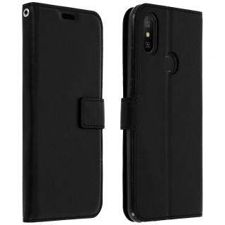 Flip Cover Stand Case Brieftasche & Standfunktion für Xiaomi Mi A2 - Schwarz