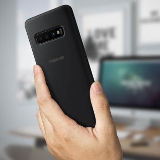 Original Samsung Soft Touch Cover Silikon für Samsung Galaxy S10 - Schwarz - Vorschau 3