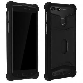 Schockabsorbierende Hülle für Smartphones zwischen 5.3'' und 5.5'' - Schwarz