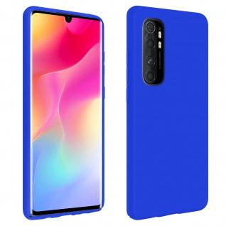 Halbsteife Silikon Handyhülle Xiaomi Mi Note 10 Lite, Soft Touch - Blau