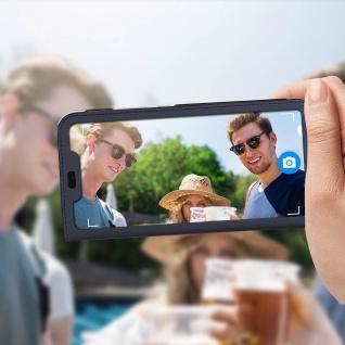Flip Cover mit Smart View Sichtfenster für Huawei P Smart Plus - Dunkelblau - Vorschau 3