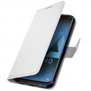 Flip Stand Cover Brieftasche & Standfunktion für Samsung Galaxy A40 - Weiß - Vorschau 2