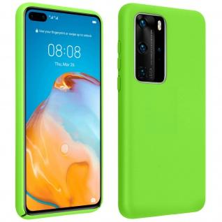 Halbsteife Silikon Handyhülle Huawei P40 Pro, Soft Touch - Grün