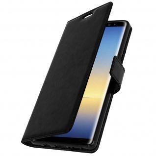 Flip Cover Stand Case Brieftasche & Standfunktion für Galaxy Note 8 - Schwarz