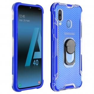 Hybrid Handyhülle mit Ring Halterung für Samsung Galaxy A40 ? Blau