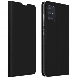 Klappetui mit Kartenfach & Standfunktion Samsung Galaxy A51 - Schwarz