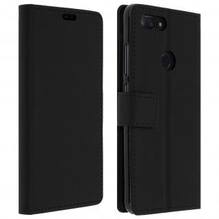 Xiaomi Mi 8 Lite Flip-Cover mit Kartenfächern & Standfunktion - Schwarz