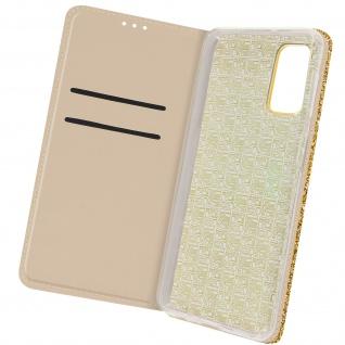 Glitter Klapphülle, Glitzernde Handyhülle für Samsung Galaxy A32 5G â€? Gold