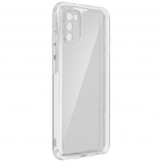 Schutzhülle für Samsung Galaxy A02s, Vorder- + Rückseite ? Transparent