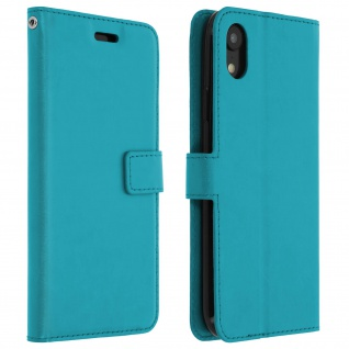 Flip Stand Cover Brieftasche & Standfunktion Apple iPhone XR - Türkisblau