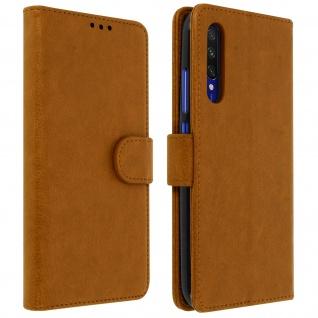 Flip Cover Geldbörse, Klappetui Kunstleder für Xiaomi Mi A3 ? Braun