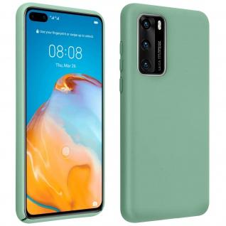 Halbsteife Silikon Handyhülle Huawei P40, Soft Touch - Grau