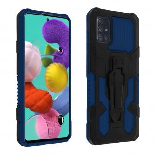 Stoßfeste Handyhülle Samsung Galaxy A51, mit Gürtelclip und Ständer ? Blau - Vorschau 1