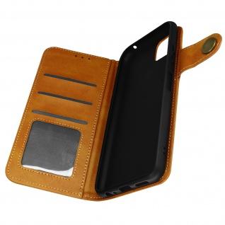 Sixties Style Klappetui, Hülle mit Geldbörse für Samsung A22 5G ? Hellbraun