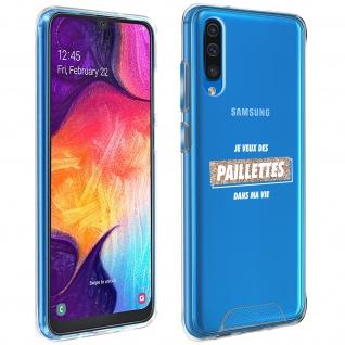 "Handyhülle für Samsung Galaxy A50 / A30s, Made in France ? "" Paillettes"" Design"