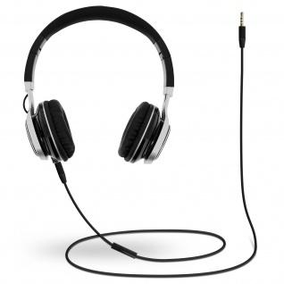 Audio Headset mit 3.5mm Klinkenstecker, EP16 Kopfhörer - Schwarz / Silber