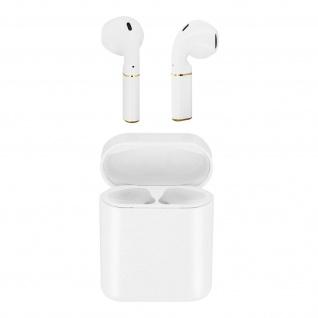 Bluetooth Kopfhörer+Ladecase mit Fingertip-Steuerung und 3 Std Akkulaufzeit-Weiß