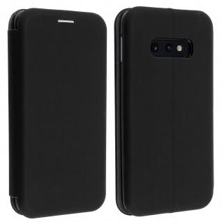 Soft Touch Cover Samsung Galaxy S10e, Kartenfach und Standfunktion - Schwarz