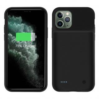 2-in-1 Hartschale, 4500mAh Akkuhülle für Apple iPhone 11 Pro Max ? Schwarz