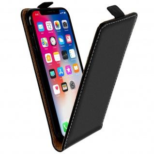 Vertikales Flip-Cover für iPhone X mit Kartenfach und Magnetverschluss ? Schwarz
