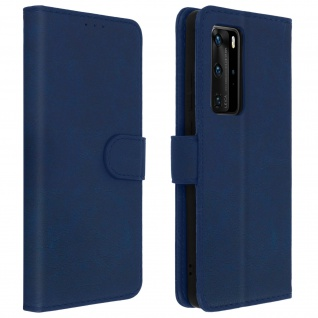 Flip Cover Geldbörse, Klappetui Kunstleder für Huawei P40 Pro â€? Blau