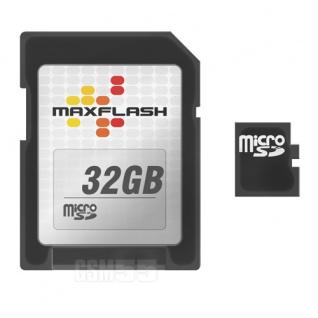 Micro-SD Karte 32 GB Class 4 + SD-Adapter - MaxFlash Speicherkarte