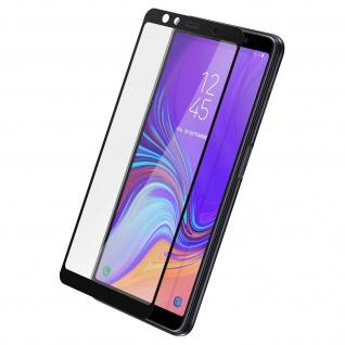 9H kratzfeste Glas-Displayschutzfolie für Samsung Galaxy A7 2018 - Schwarz