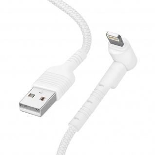 USB / Lightning Kabel mit abgewinkeltem Stecker 1m Inkax CK71 ? Weiß