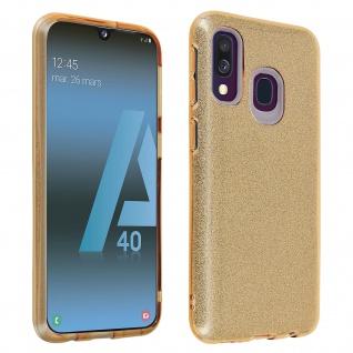 Schutzhülle, Glitter Case für Samsung Galaxy A40, shiny & girly Hülle - Gold