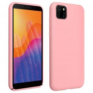 Halbsteife Silikon Handyhülle Huawei Y5p, Soft Touch - Rosa