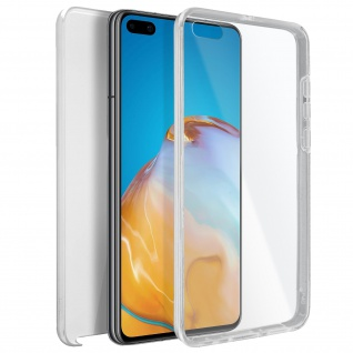 Schutzhülle für Huawei P40 Pro, Vorder- + Rückseite ? Transparent