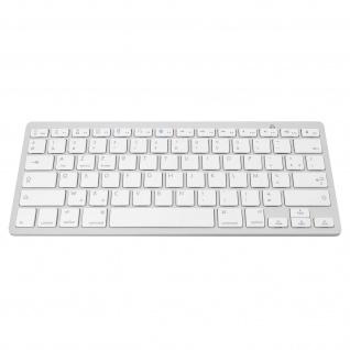Drahtlose Bluetooth AZERTY-Tastatur, Reaktionszeit 0, 2s ? Weiß