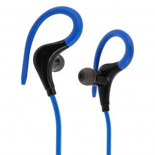 Bluetooth-Sport-Kopfhörer - Fernbedienung + Mikrofon - Blau