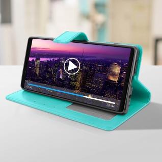 Flip Stand Cover Brieftasche & Standfunktion für Sony Xperia 1 - Türkisblau - Vorschau 4