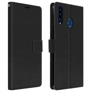 Flip Stand Case Brieftasche & Standfunktion für Samsung Galaxy A20s ? Schwarz