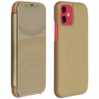 Apple iPhone 11 Flip Cover mit Spiegeleffekt & Standfunktion - Gold