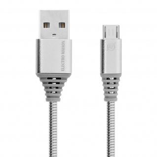 Micro-USB / USB-Ladekabel Aluminium, Aufladen & Synchronisation 1m - Silber