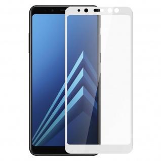 9H Displayschutzfolie aus gehärtetem Glas Samsung Galaxy A8 - Rand Weiß